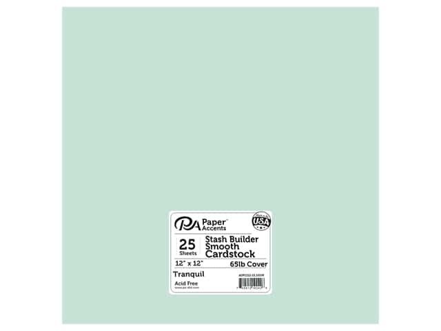 Paper Accents Cardstock 12 x 12 in. #10108 Stash Builder Tranquil 25 pc.