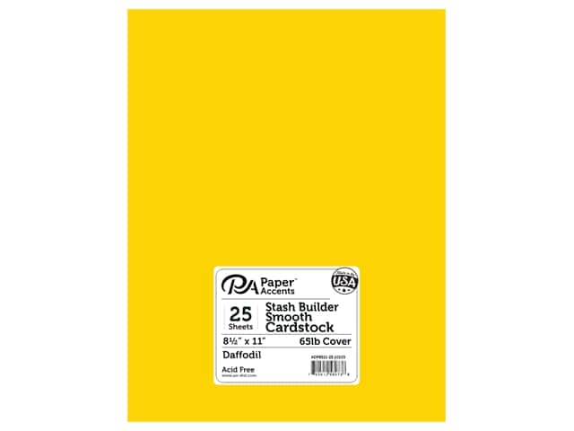 Paper Accents Cardstock 8 1/2 x 11 in. #10103 Stash Builder Daffodil 25 pc.