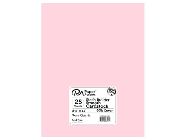 Paper Accents Cardstock 8 1/2 x 11 in. #10133 Stash Builder Rose Quartz 25 pc.