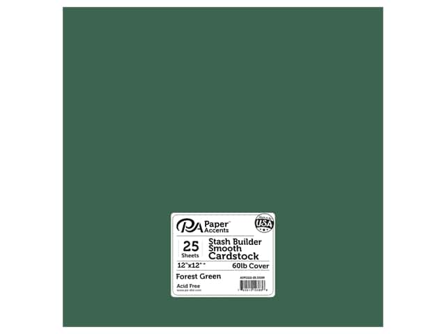 Paper Accents Cardstock 12 x 12 in. #10169 Stash Builder Forest Green 25 pc.