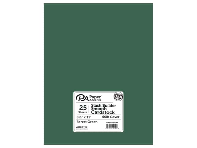 Paper Accents Cardstock 8 1/2 x 11 in. #10169 Stash Builder Forest Green (25 sheets)