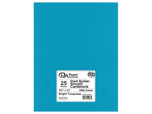 Paper Accents Cardstock 8 1/2 x 11 in. #10174 Stash Builder Bright Turquoise 25 pc.