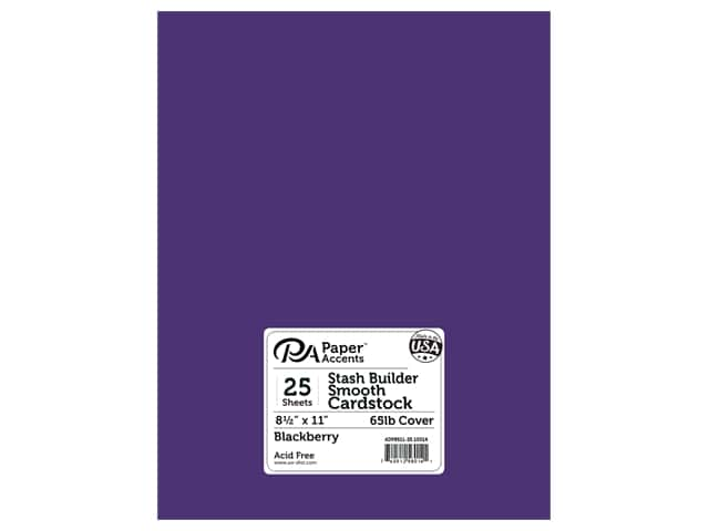 Paper Accents Cardstock 8 1/2 x 11 in. #10014 Stash Builder Blackberry 25 pc.