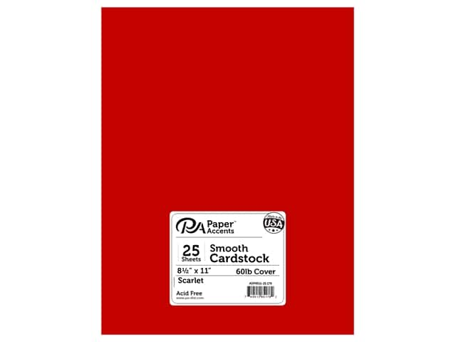 Paper Accents Cardstock 8 1/2 x 11 in. #178 Smooth Scarlet (25 sheets)