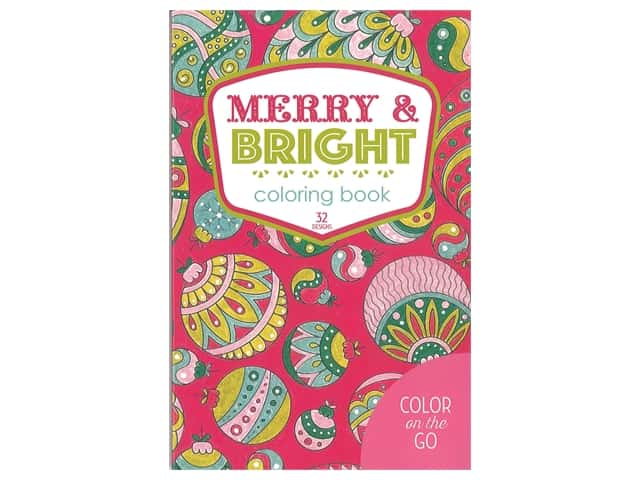 Color on the Go: Merry & Bright Coloring Book