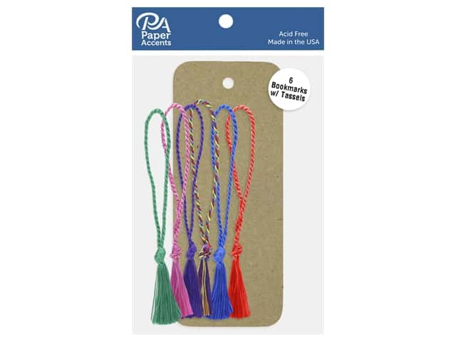 Paper Accents Cardstock Shape Bookmark With Tassel 2.5 in. x 6 in. 65 lb Kraft 6 pc