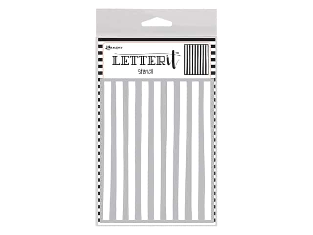 Ranger Letter It Stencil - Organic Stripes
