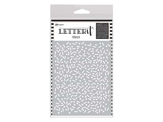 Ranger Letter It Stencil - Party Time
