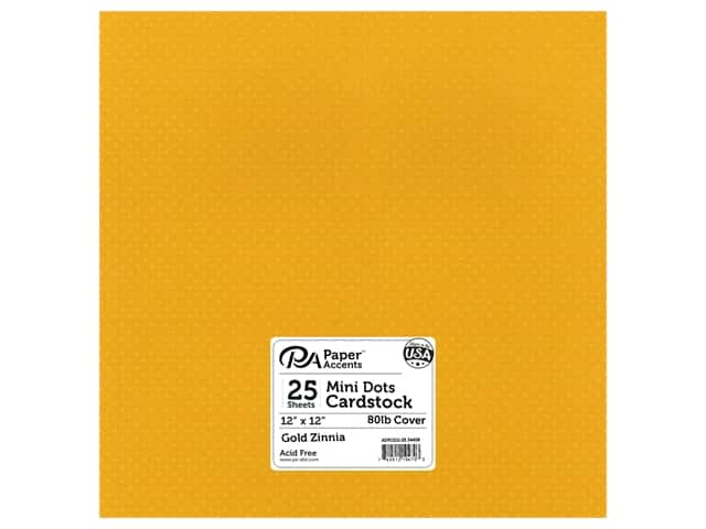 Paper Accents Cardstock 12 x 12 in. #34408 Mini Dot Gold Zinnia (25 sheets)