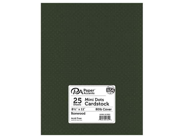 Paper Accents Cardstock 8 1/2 x 11 in. #35513 Mini Dot Boxwood