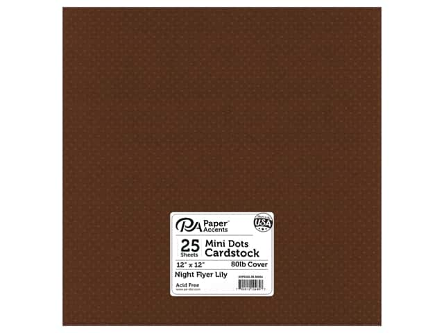 Paper Accents Cardstock 12 x 12 in. #39904 Mini Dot Night Flyer Lily