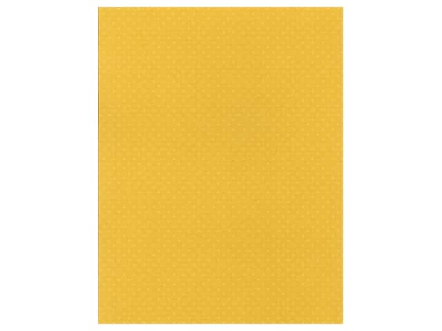 Paper Accents Mini Dot Cardstock 8.5 in. x 11 in. 80 lb Daffodil UPC