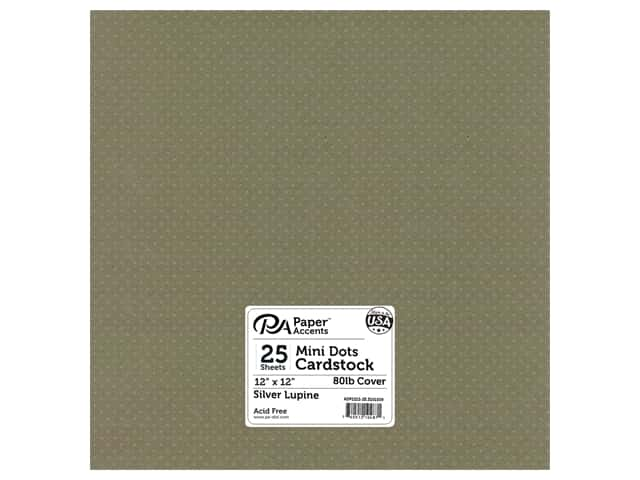 Paper Accents Cardstock 12 x 12 in. #3101009 Mini Dot Silver Lupine