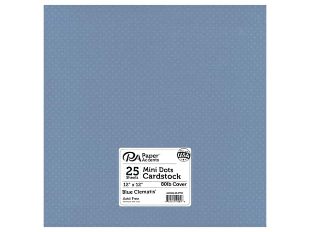 Paper Accents Cardstock 12 x 12 in. #37718 Mini Dot Blue Clematis