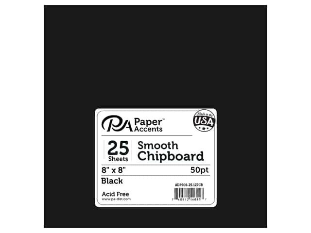 Paper Accents Chipboard 8 x 8 in. 50 pt. Extra Heavy Black