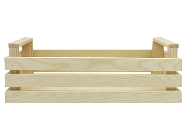 Sierra Pacific Crafts Wood Crate Unfinished 13.5 in. x 4.75 in. x 4.5 in. Natural