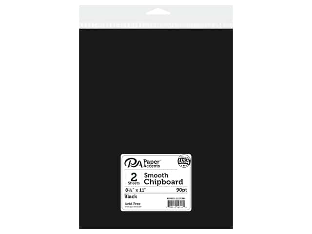 Paper Accents Chipboard 8 1/2 x 11 in. 90 pt. 2X Heavy Black 2 pc.