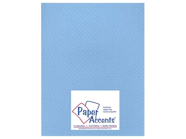 Paper Accents Cardstock 8 1/2 x 11 in. #37716 Mini Dot Bluebells