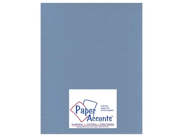 Paper Accents Cardstock 8 1/2 x 11 in. #37718 Mini Dot Blue Clematis