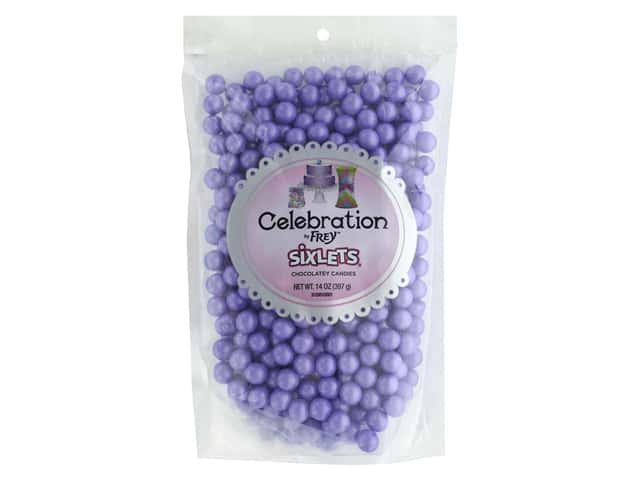 SweetWorks Celebration Sixlets 14 oz. Shimmer Lavender