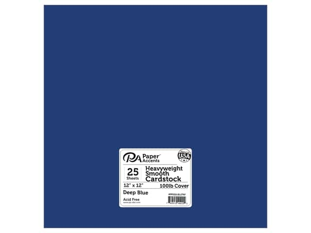 Paper Accents  Cardstock 12 x 12 in. #17707 Heavyweight Smooth Deep Blue 25 pc.
