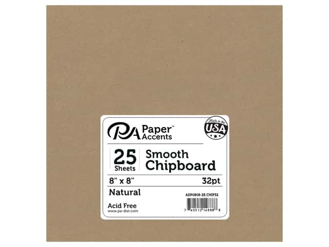 Paper Accents Chipboard 8 x 8 in. 32 pt. XL Heavy Natural