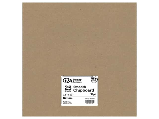 Paper Accents Chipboard 12 x 12 in. 32 pt. XL Heavy Natural