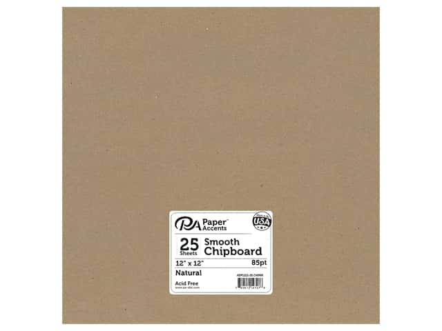 Paper Accents Chipboard 12 x 12 in. 85 pt. 2X Heavy Natural