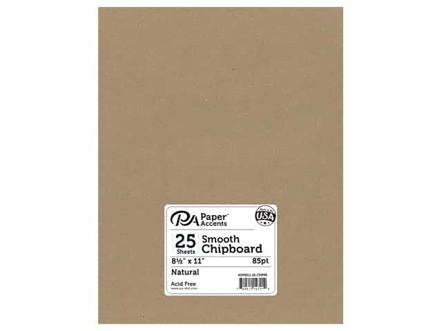 Paper Accents Chipboard 8 1/2 x 11 in. 85 pt. 2X Heavy Natural