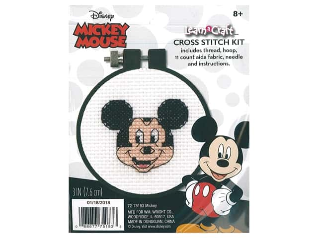Dimensions Counted Cross Stitch Kit 3 in. Disney's Mickey