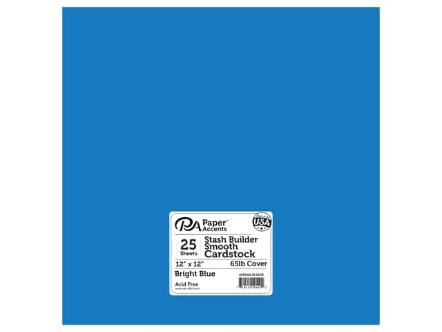 Paper Accents Cardstock 12 in. x 12 in. Stash Builder 65 lb Bright Blue
