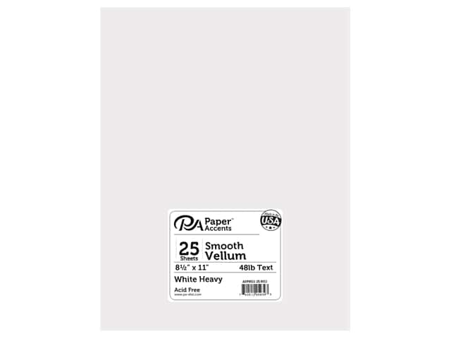 Paper Accents Vellum 8 1/2 x 11 in. Heavy Wight White 25 pc.