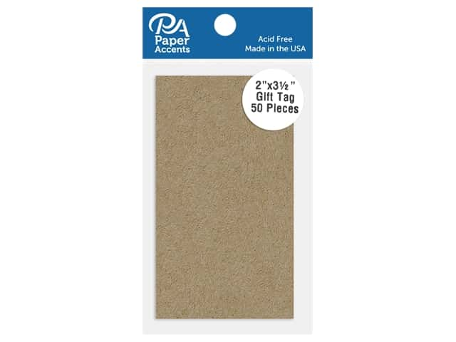 Paper Accents Cardstock Shape Gift Tag 2 in. x 3.5 in. 65 lb Kraft 50 pc