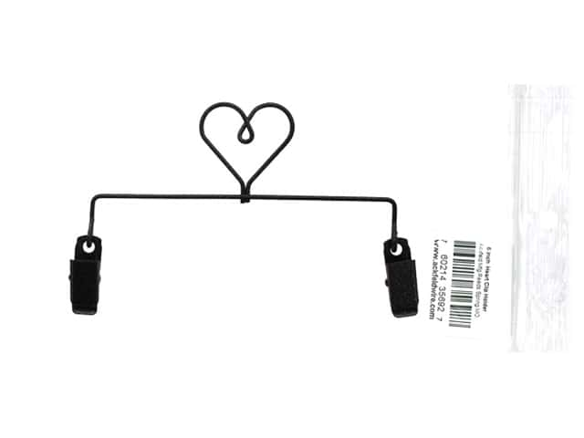 Ackfeld Craft Holder 6 in. Heart With Clips
