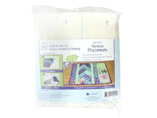 June Tailor Batting Quilt As You Go Cotton/Polyester Placemat Venice