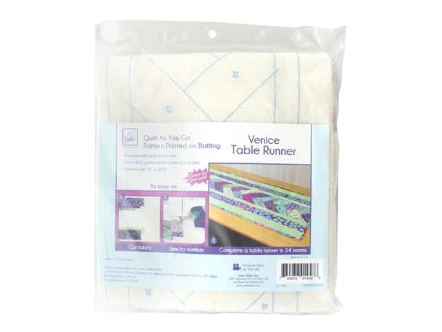 June Tailor Batting Quilt As You Go Cotton/Polyester Table Runner Venice