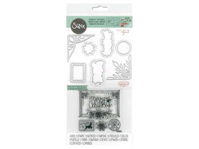 Sizzix Katelyn Lizardi Framelits Die & Stamp Set Christmas Envelope