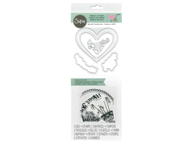 Sizzix Die & Stamp Framelits I Heart You