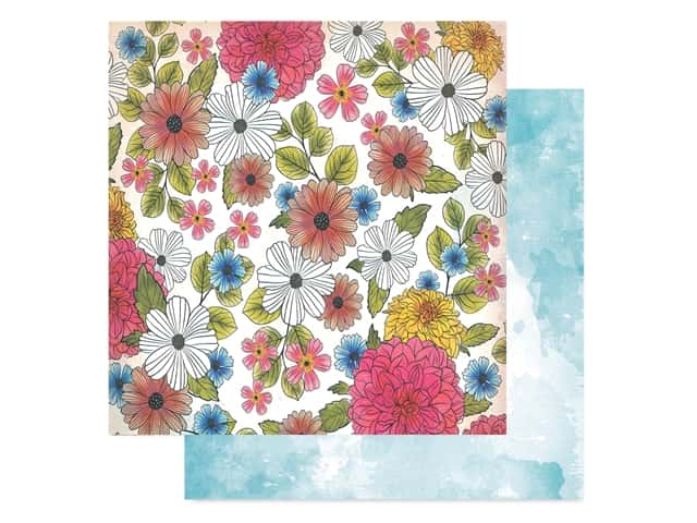 American Crafts Collection Vicki Boutin Field Notes Paper 12 in. x 12 in. Among The Wildflowers