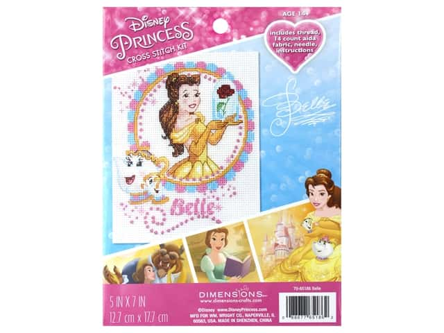 Dimensions Counted Cross Stitch Kit 5 x 7 in. Disney's Belle