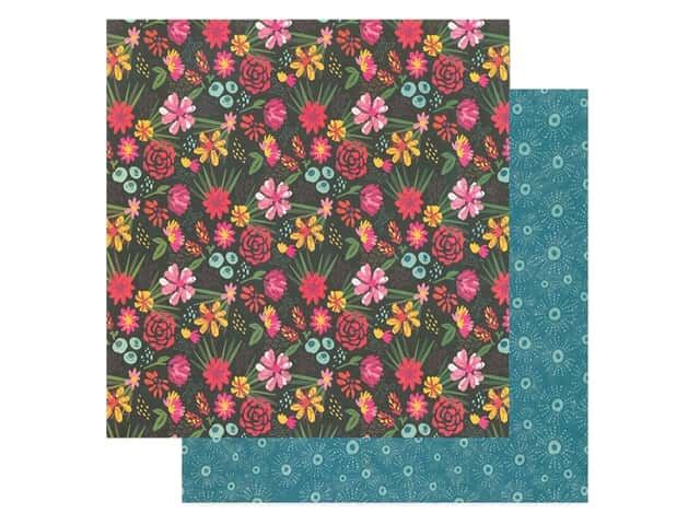 American Crafts Collection Dear Lizzy New Day Paper 12 in. x 12 in. Be Present