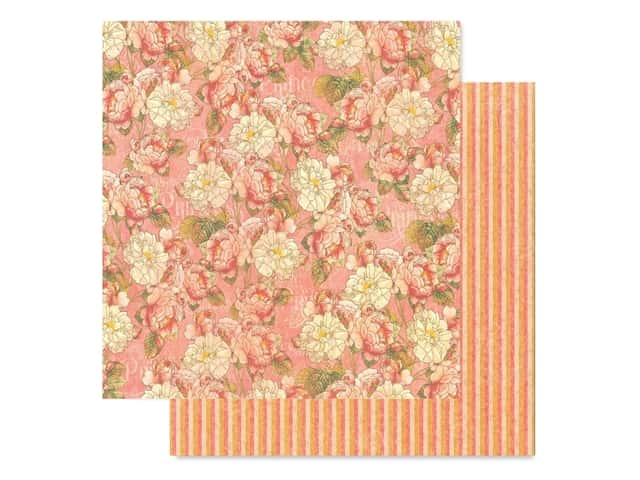 Graphic 45 Collection Princess Paper 12 in. x 12 in. Roses For Royalty