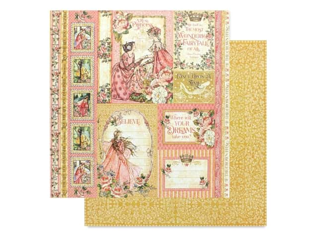 Graphic 45 Collection Princess Paper 12 in. x 12 in. Beautiful Maiden