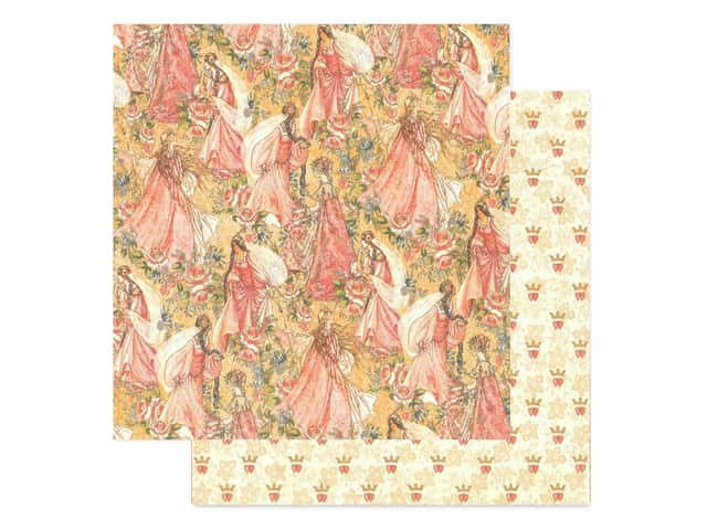 Graphic 45 Collection Princess Paper 12 in. x 12 in. Pretty In Pink