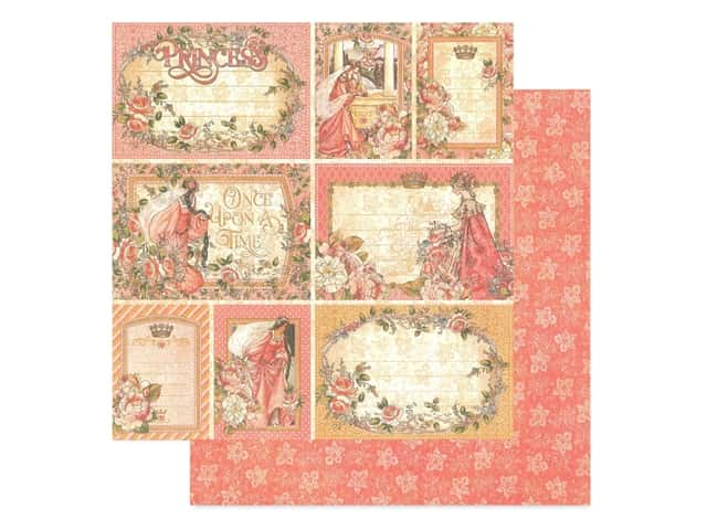 Graphic 45 Collection Princess Paper 12 in. x 12 in. Your Highness