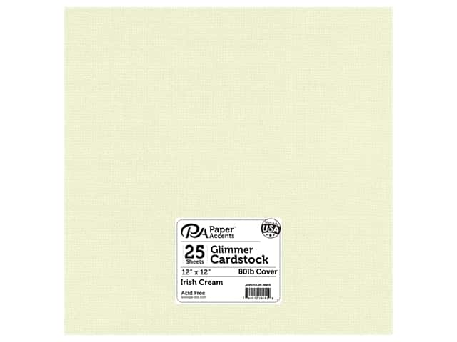 Paper Accents Cardstock 12 x 12 in. #28803 Glimmer Irish Cream