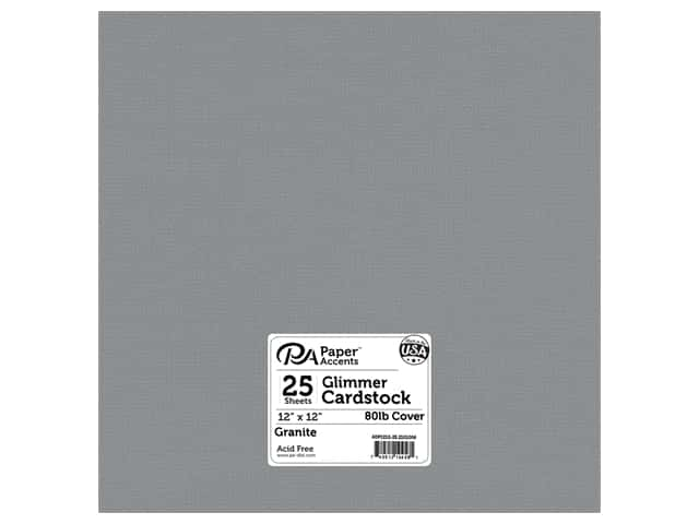 Paper Accents Cardstock 12 x 12 in. #2101006 Glimmer Granite