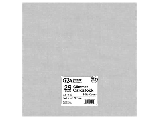 Paper Accents Cardstock 12 x 12 in. #2101005 Glimmer Polished Stone