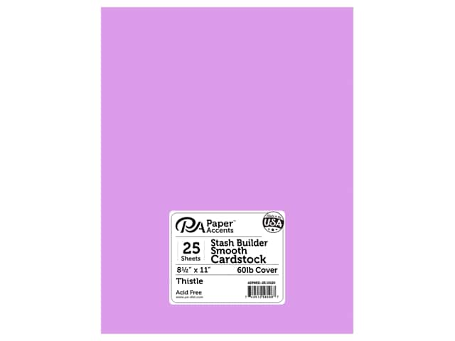Paper Accents Cardstock 8 1/2 x 11 in. #10120 Stash Builder Thistle 25 pc.