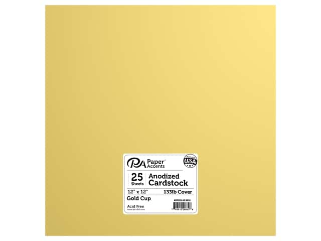 Paper Accents Anodized Cardstock 12 x 12 in. Gold Cup 25 pc.